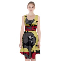 Angry little dog Racerback Midi Dress by Valentinaart