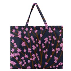 Japanese Tree  Zipper Large Tote Bag by Valentinaart