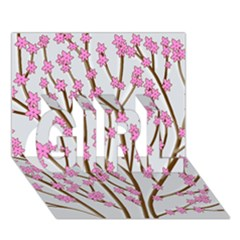 Cherry Tree Girl 3d Greeting Card (7x5) by Valentinaart