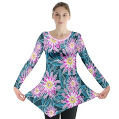 Whimsical Garden Long Sleeve Tunic  by DanaeStudio