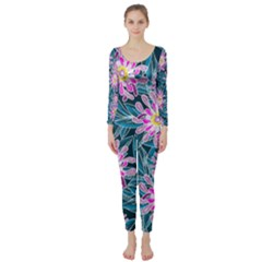 Whimsical Garden Long Sleeve Catsuit