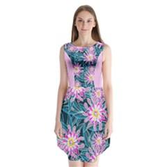 Whimsical Garden Sleeveless Chiffon Dress