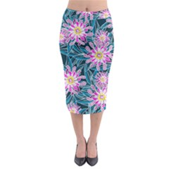 Whimsical Garden Midi Pencil Skirt