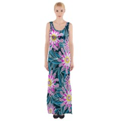 Whimsical Garden Maxi Thigh Split Dress