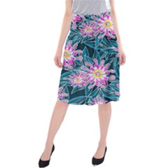 Whimsical Garden Midi Beach Skirt