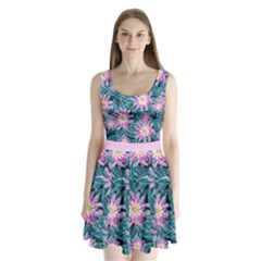 Whimsical Garden Split Back Mini Dress