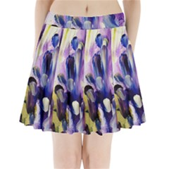 purple abstract print  Pleated Mini Skirt by artistpixi