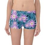 Whimsical Garden Reversible Boyleg Bikini Bottoms