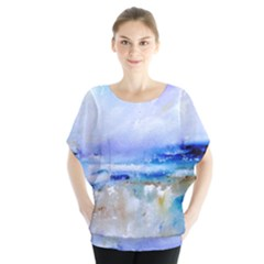 Abstract Purple Art Prints Blouse by artistpixi
