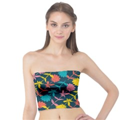 Colorful Floral Pattern Tube Top