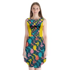 Colorful Floral Pattern Sleeveless Chiffon Dress   by DanaeStudio