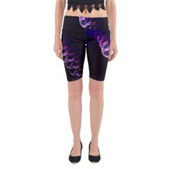 Pink And Purple Bubbles Yoga Cropped Leggings