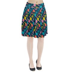 Colorful Floral Pattern Pleated Skirt