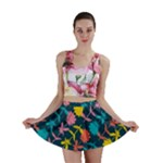 Colorful Floral Pattern Mini Skirt