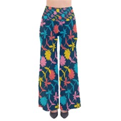 Colorful Floral Pattern Women s Chic Palazzo Pants