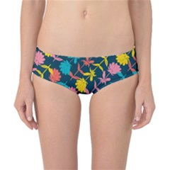 Colorful Floral Pattern Classic Bikini Bottoms