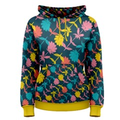Colorful Floral Pattern Women s Pullover Hoodie