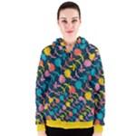 Colorful Floral Pattern Women s Zipper Hoodie