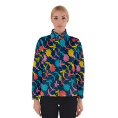 Colorful Floral Pattern Winter Jacket