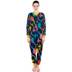 Colorful Floral Pattern OnePiece Jumpsuit (Ladies)
