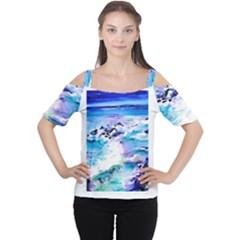 Seascap124 Women s Cutout Shoulder Tee by artistpixi