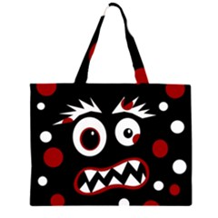 Madness  Zipper Large Tote Bag by Valentinaart