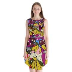New Year Sleeveless Chiffon Dress