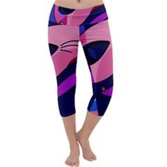 Strange Love Capri Yoga Leggings by Valentinaart