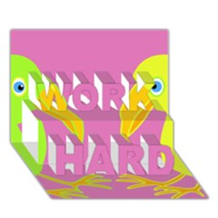 Parrots Work Hard 3d Greeting Card (7x5) by Valentinaart