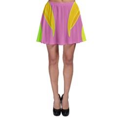 Parrots Skater Skirt by Valentinaart