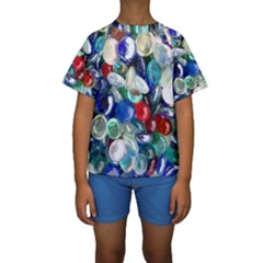 Random Baubles Kid s Short Sleeve Swimwear by artistpixi