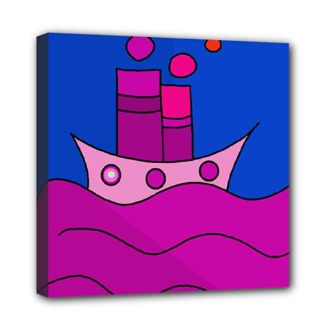 Boat Mini Canvas 8  X 8  by Valentinaart
