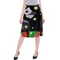 Optimistic Decor Midi Beach Skirt by Valentinaart