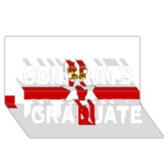 Ulster Banner Congrats Graduate 3d Greeting Card (8x4) by abbeyz71