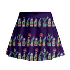 Cute Cactus Blossom Mini Flare Skirt by DanaeStudio