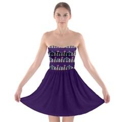 Cute Cactus Blossom Strapless Bra Top Dress