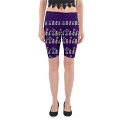 Cute Cactus Blossom Yoga Cropped Leggings by DanaeStudio