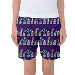 Cute Cactus Blossom Women s Basketball Shorts by DanaeStudio