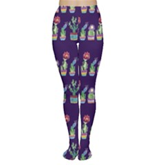 Cute Cactus Blossom Tights by DanaeStudio
