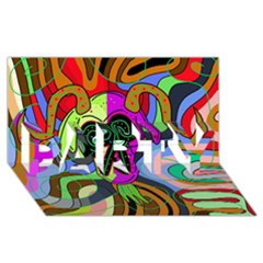 Colorful Goat Party 3d Greeting Card (8x4)
