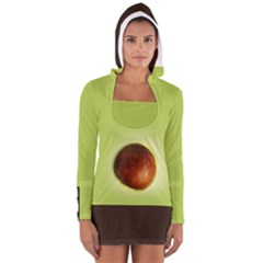 Avocado3 Women s Long Sleeve Hooded T Shirt by Wanni