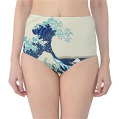 The Great Wave High Waist Bikini Bottoms