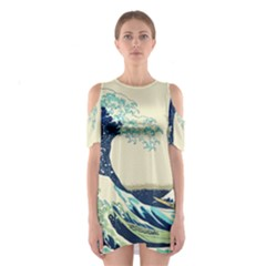 The Great Wave Cutout Shoulder Dress by fashionnarwhal