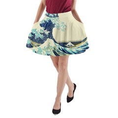 The Great Wave A-Line Pocket Skirt by fashionnarwhal