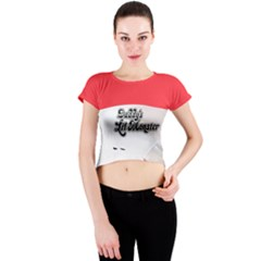 Harley Quinn Crew Neck Crop Top by Wanni