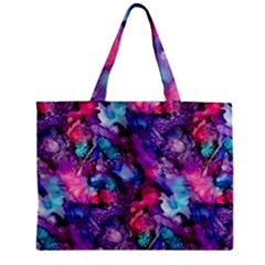 Glowing Abstract Zipper Mini Tote Bag by KirstenStar