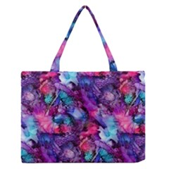 Glowing Abstract Medium Zipper Tote Bag by KirstenStar