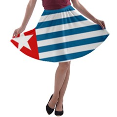 Flag Of Free Papua Movement  A Line Skater Skirt by abbeyz71