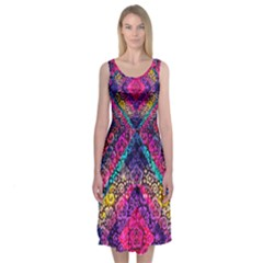 Tribal Midi Sleeveless Dress by Wanni