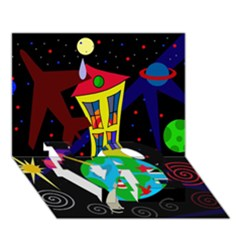 Colorful Universe Love Bottom 3d Greeting Card (7x5) by Valentinaart